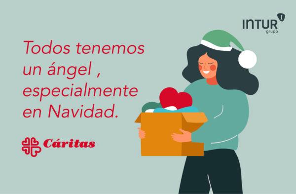Intur dona a Cáritas más de 500 raciones de platos elaborados que se servirán a las personas que más lo necesitan estas fiestas