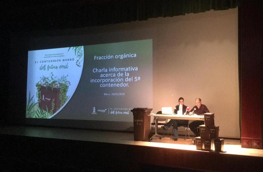 El Ayuntamiento de Muro y FOVASA celebran una jornada informativa para explicar el servicio de recogida orgánica